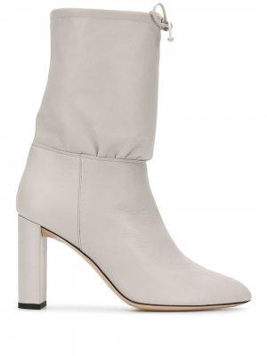 Ботинки на массивном каблуке Deimille. Цвет: серый