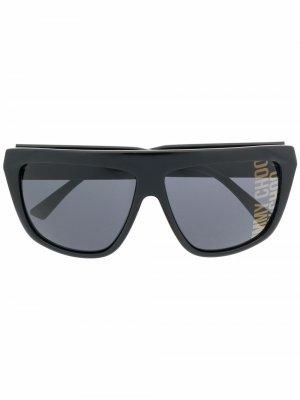 Солнцезащитные очки с логотипом Jimmy Choo Eyewear. Цвет: черный