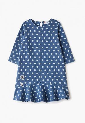 Платье Button Blue. Цвет: синий