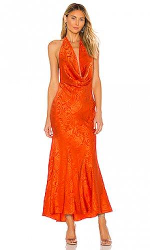 Вечернее платье sandrine Ronny Kobo. Цвет: оранжевый