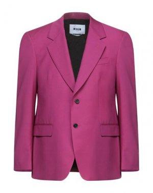 Пиджак MSGM. Цвет: пурпурный