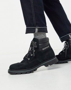 Черные походные ботинки Caterpillar-Черный Cat Footwear