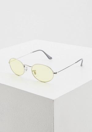 Очки солнцезащитные Ray-Ban® 0RB3547 003/T4. Цвет: серебряный