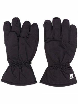 Перчатки с логотипом KWAY. Цвет: черный