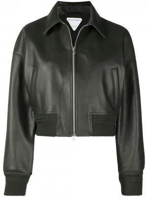 Куртка-бомбер Bottega Veneta. Цвет: зеленый