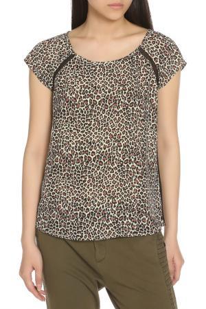 Блузка SCOTCH & SODA. Цвет: leopard