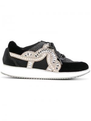 Декорированные кроссовки Sophia Webster. Цвет: черный