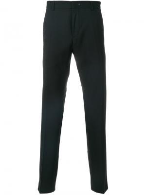 Классические брюки прямого кроя Calvin Klein. Цвет: чёрный
