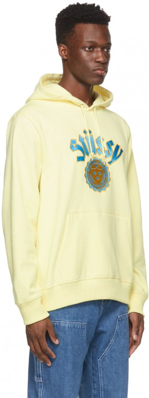 Yellow City Seal Appliqué Hoodie Stüssy. Цвет: pale yellow
