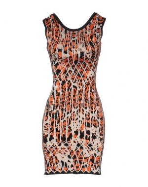 Короткое платье HERVÉ LÉGER. Цвет: оранжевый