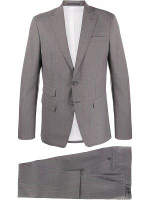 Строгий костюм-двойка в полоску Dsquared2. Цвет: серый