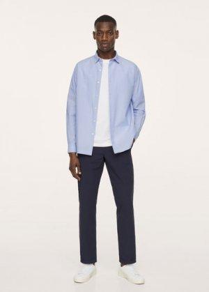 Дышащая рубашка сирсакер - Memphis Mango. Цвет: синий