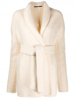 Пальто 1990-х годов с воротником-шалькой Gianfranco Ferré Pre-Owned. Цвет: нейтральные цвета