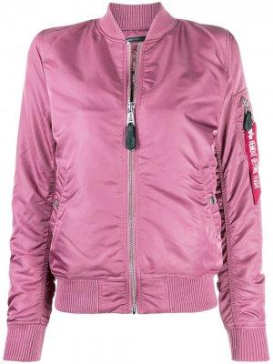 Куртка-бомбер MA-1 Alpha Industries. Цвет: розовый
