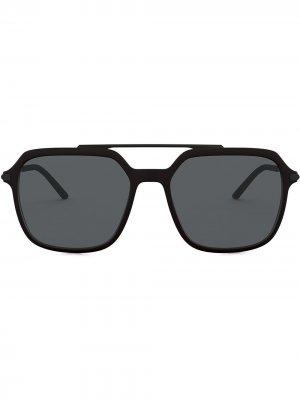 Солнцезащитные очки-авиаторы Slim Dolce & Gabbana Eyewear. Цвет: черный