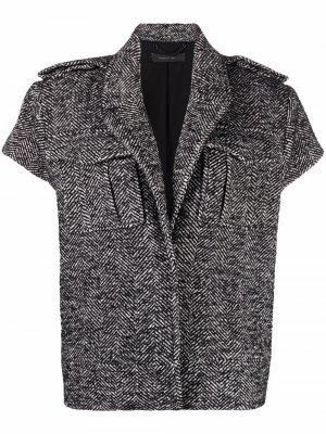 Shortsleeved button jacket Federica Tosi. Цвет: черный