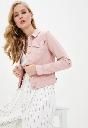Куртка джинсовая Vila. Цвет: розовый