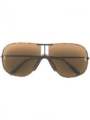 Объемные солнцезащитные очки-авиаторы Stella McCartney Eyewear. Цвет: коричневый
