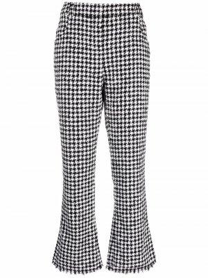 Укороченные брюки в ломаную клетку Balmain. Цвет: черный