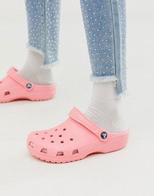 Розовые классические шлепанцы -Розовый Crocs