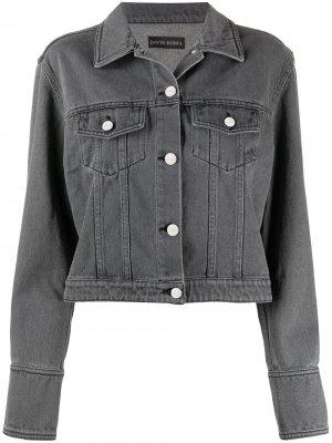 Укороченная джинсовая куртка David Koma. Цвет: серый