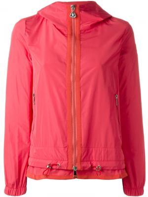 Многослойная ветровка с капюшоном Moncler. Цвет: розовый и фиолетовый