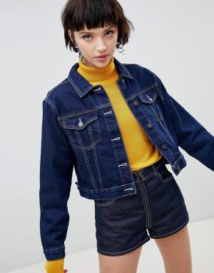 Джинсовая куртка New Look. Цвет: синий