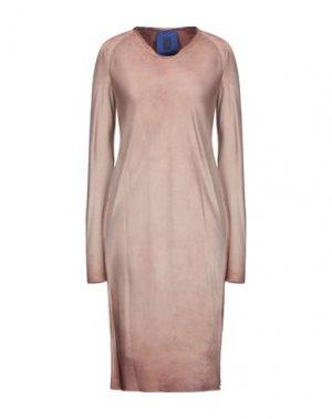 Платье миди ROQUE ILARIA NISTRI. Цвет: пастельно-розовый