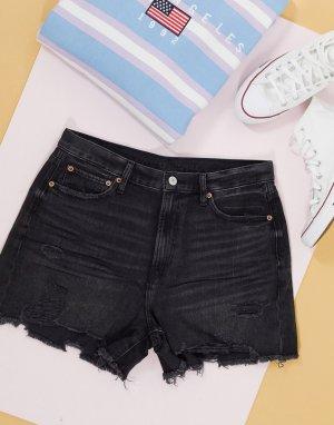 Черные джинсовые шорты бойфренда в стиле 90-х -Черный цвет American Eagle