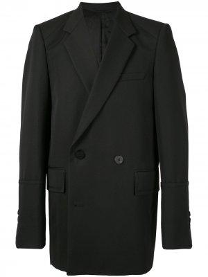 Двубортный пиджак узкого кроя Wooyoungmi. Цвет: черный