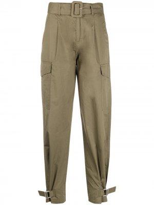 Брюки карго с поясом Tommy Jeans. Цвет: зеленый