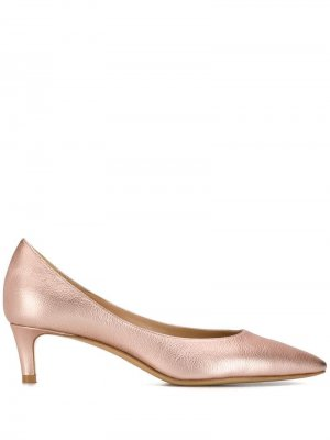 Туфли-лодочки с эффектом металлик Antonio Barbato. Цвет: розовый