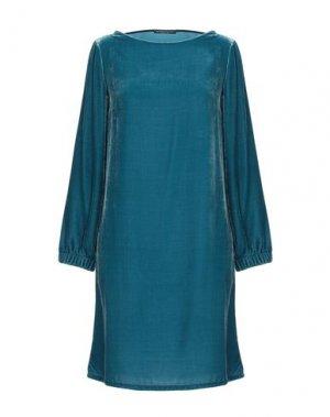 Короткое платье ANDREA TURCHI. Цвет: цвет морской волны