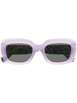 Солнцезащитные очки Virgo с зебровым принтом Retrosuperfuture. Цвет: фиолетовый
