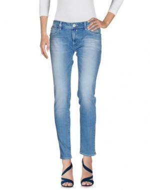 Джинсовые брюки EIGHTH SIN. Цвет: синий
