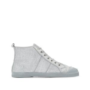 Кеды высокие Tennis Lacets Shiny BENSIMON. Цвет: серебристый