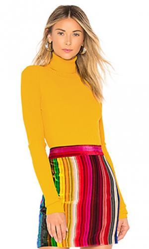 Пуловер rib turtleneck MILLY. Цвет: желтый