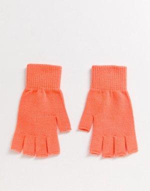 Ярко-оранжевые перчатки без пальцев -Оранжевый ASOS DESIGN