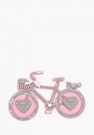 Ключница настенная Канышевы Велосипед. Цвет: розовый