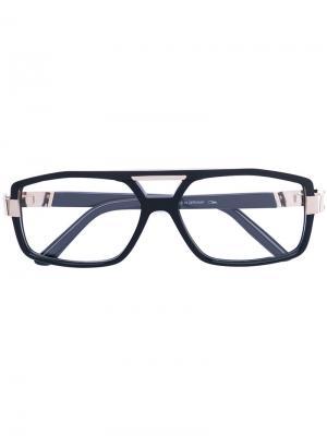 Очки с квадратной оправой Cazal. Цвет: чёрный