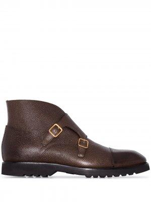 Фактурные ботинки с пряжками Tom Ford. Цвет: коричневый