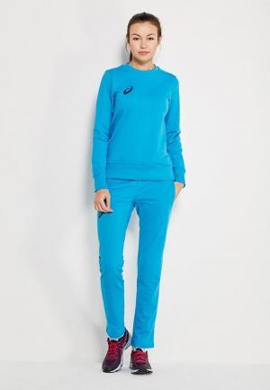 Костюм спортивный ASICS WOMAN KNIT SUIT. Цвет: голубой