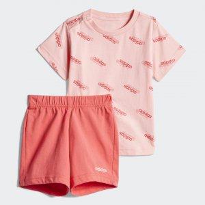 Комплект: футболка и шорты I FAV SS SET Performance adidas. Цвет: розовый