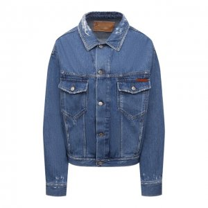 Джинсовая куртка Golden Goose Deluxe Brand. Цвет: синий