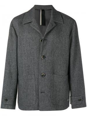 Твидовый пиджак Low Brand. Цвет: серый