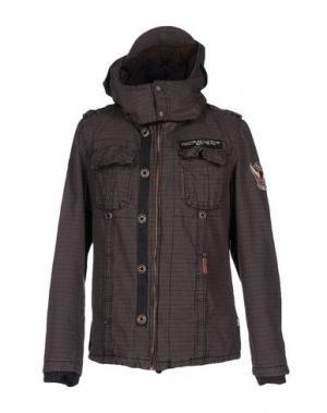 Куртка KHUJO. Цвет: свинцово-серый