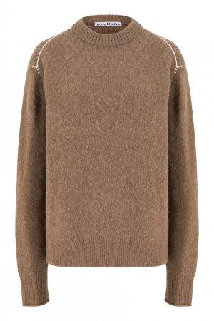 Коричневый свитер Acne Studios. Цвет: коричневый