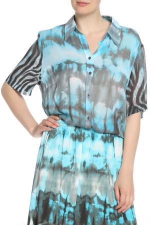 Блуза FRANK WALDER. Цвет: мультиколор