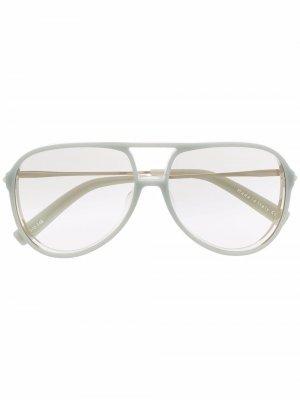 Солнцезащитные очки-авиаторы Armer Christian Roth. Цвет: синий