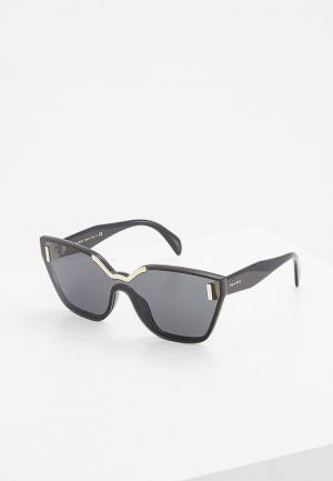 Очки солнцезащитные Prada PR 16TS 1AB5S0. Цвет: черный